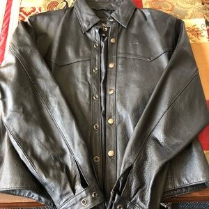Leather shirt/jacket - Fits like a Medium